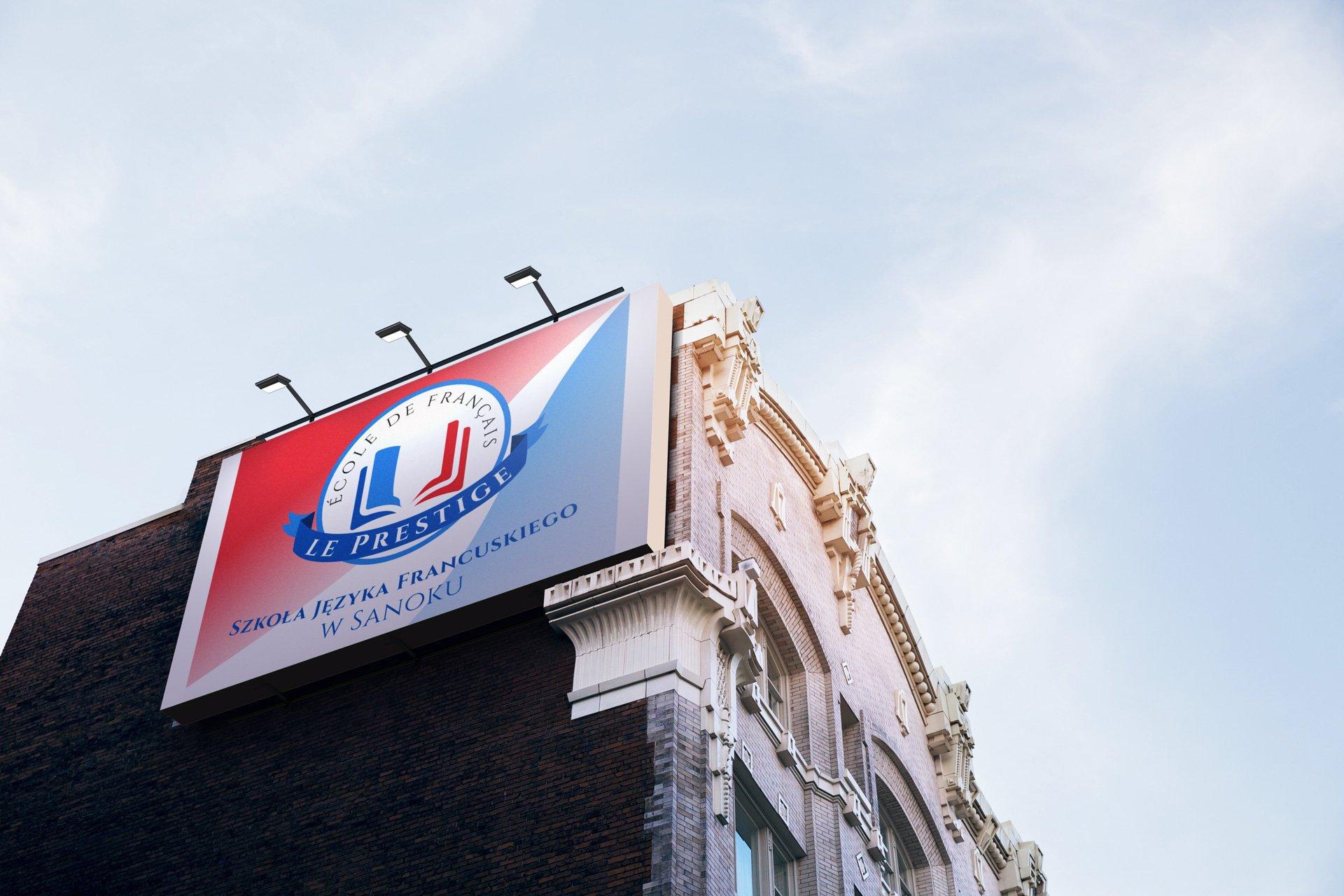 Wizualizacja prezentacji billboardu Szkoły Le Prestige - wizualizacja (by BBIG.PL)