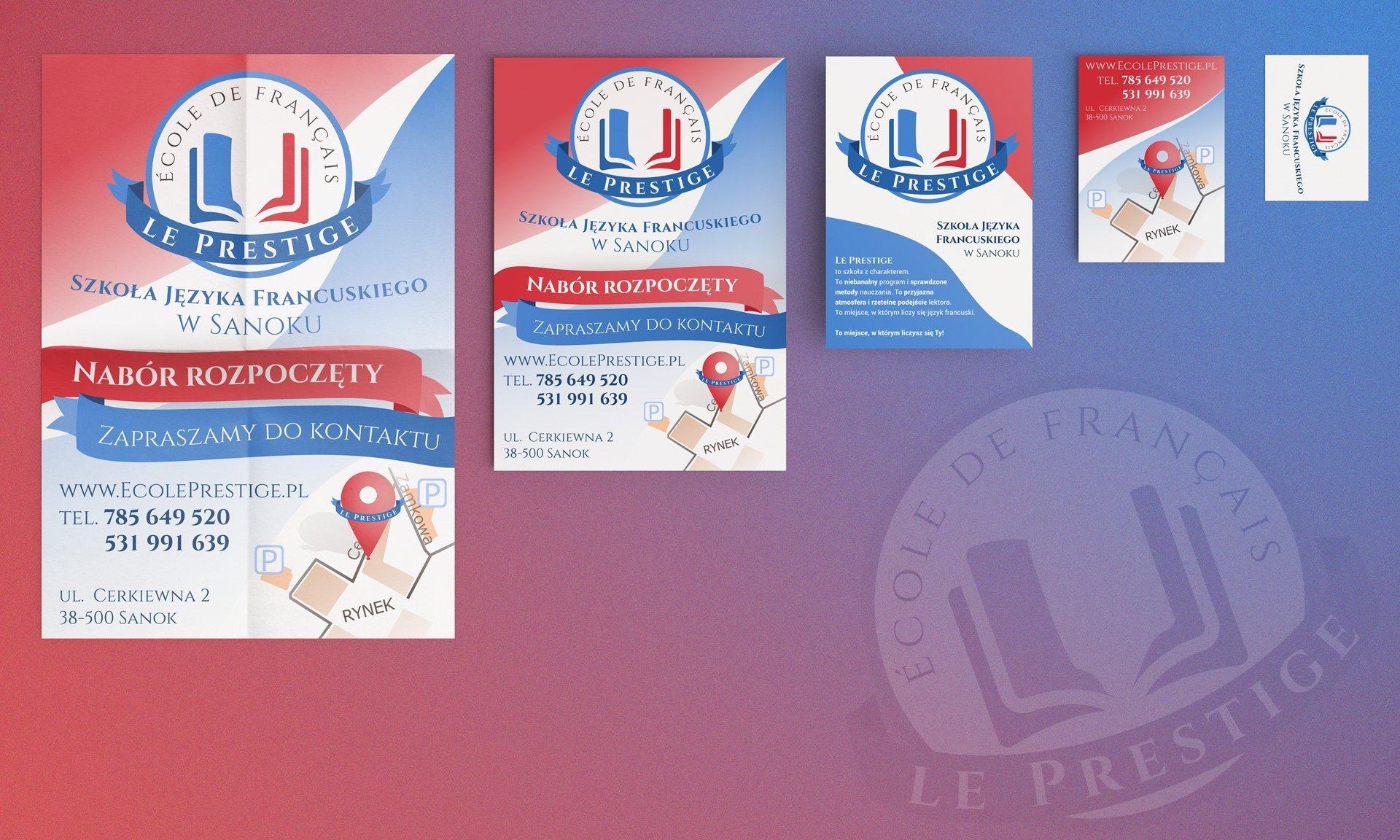 Materiały reklamowe Szkoły Le Prestige (by BBIG.PL)