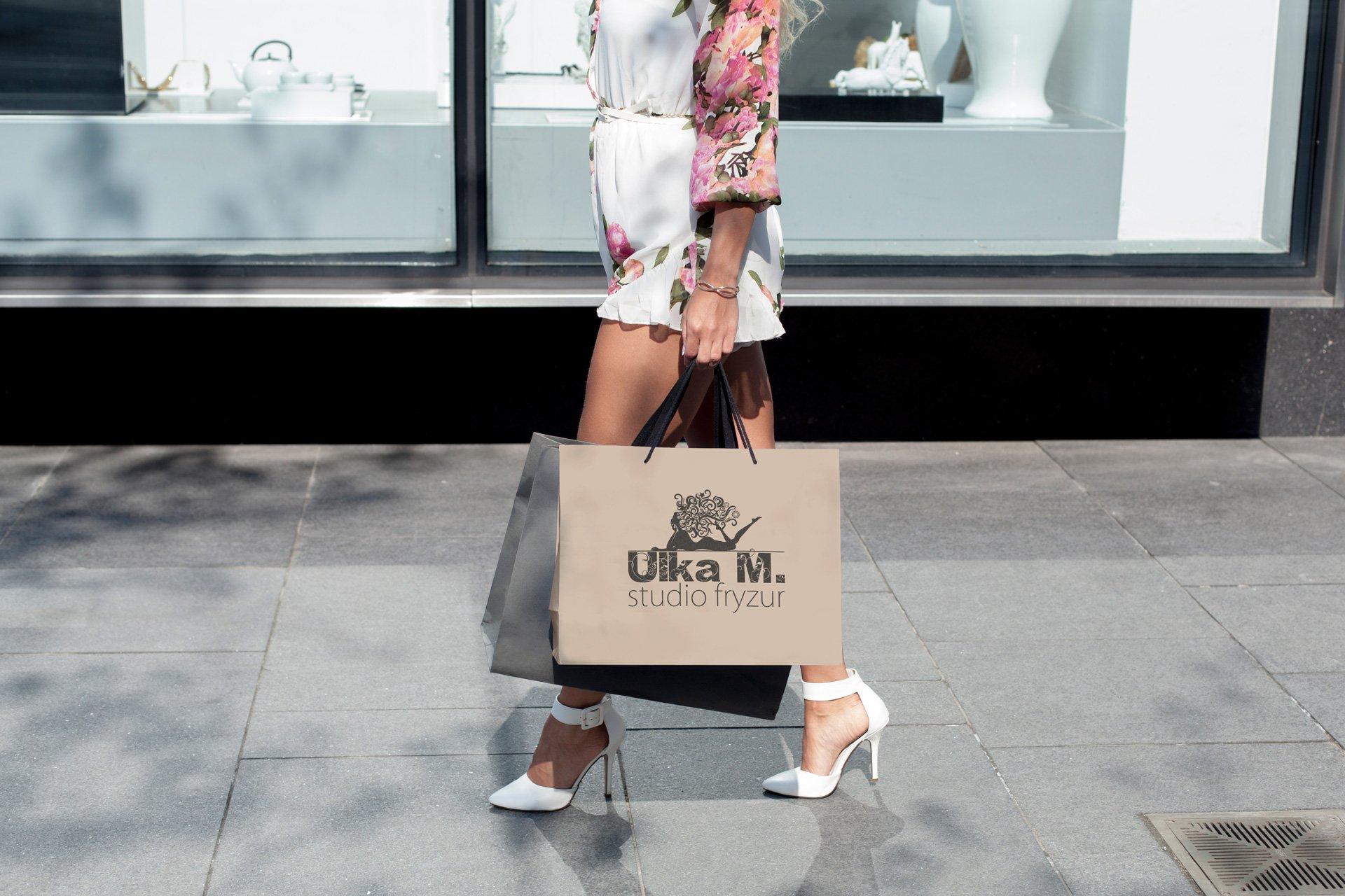 Wizualizacja projektu torby reklamowej Salonu UlkaM (by BBIG.PL)