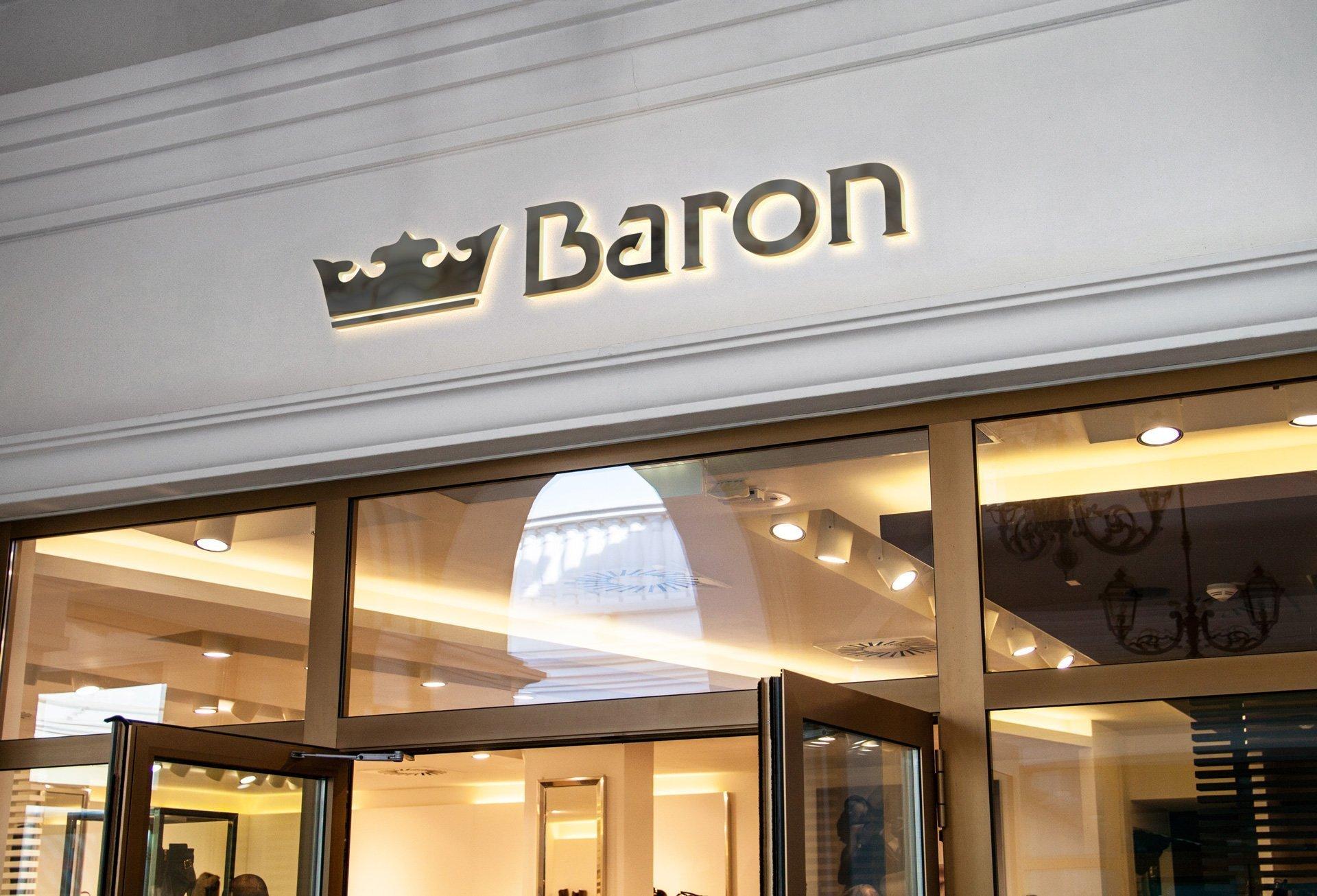 Wizualizacja szyldu podświetlanego firmy Baron (by BBIG.PL)