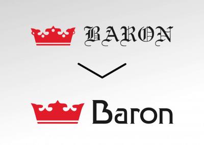 Efekt odświeżenia logo firmy Baron (by BBIG.PL)