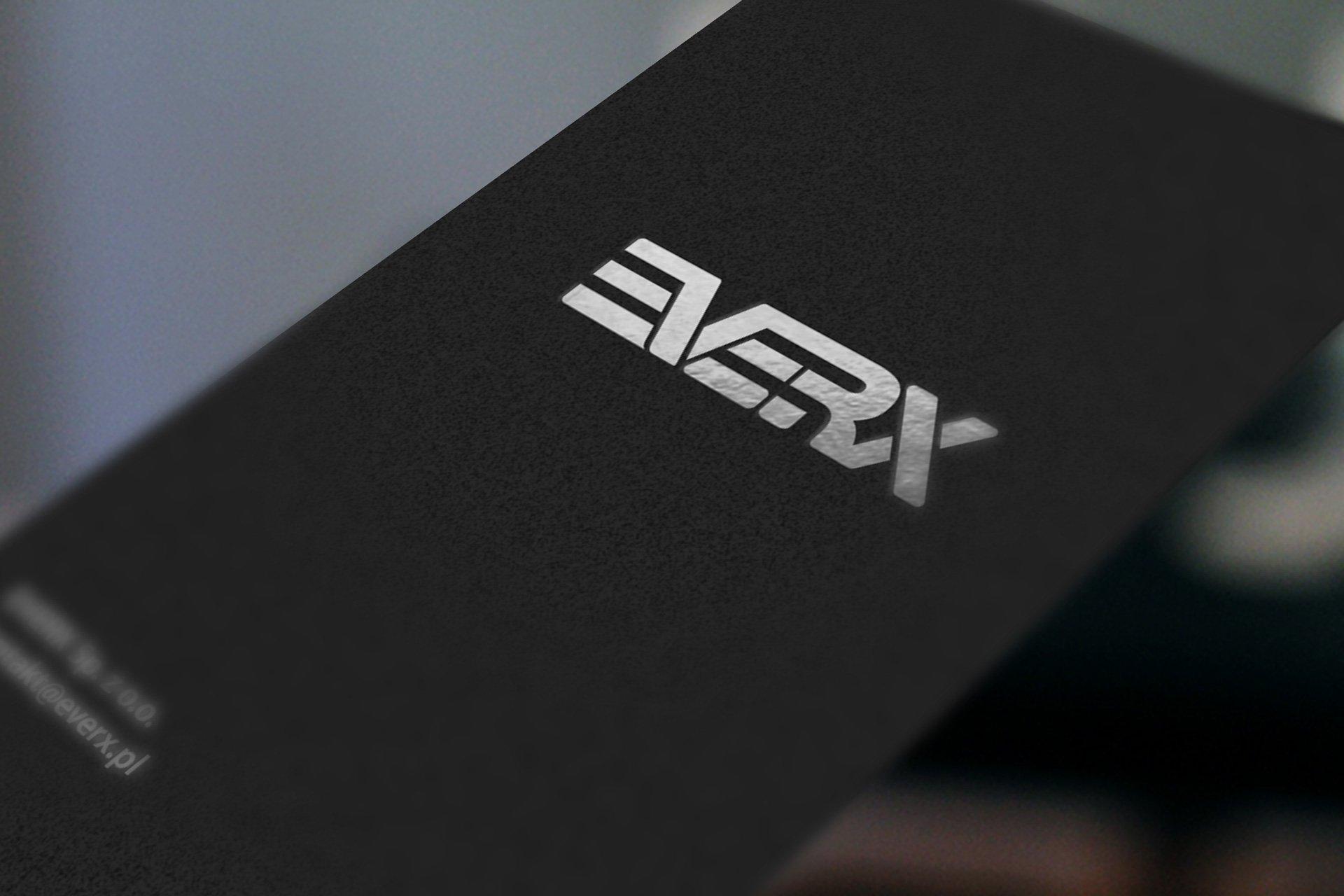 Logo spółki EverX na wizytówce (by BBIG.PL)