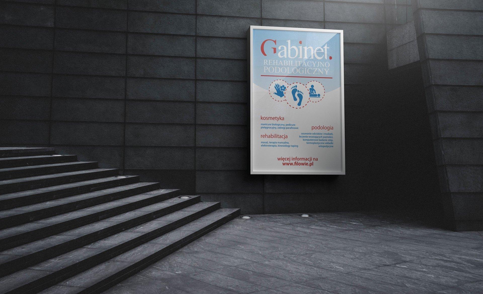 Przykładowe zastosowanie logo Gabinetu Rehabilitacyjno-Podologicznego (by BBIG.PL)