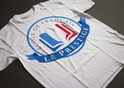 Logo Le Prestige na białej koszulce (by BBIG.PL)