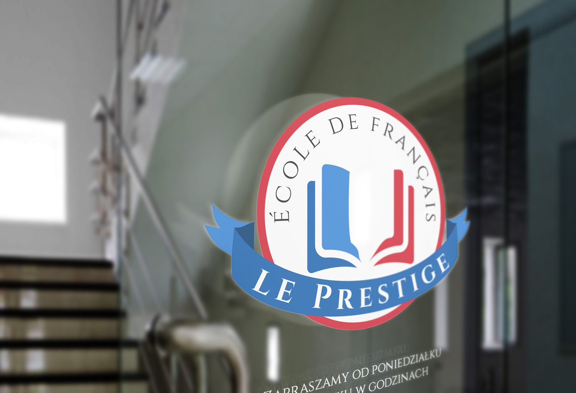 Logo Le Prestige na szkle (by BBIG.PL)
