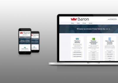 Strona internetowa Spółki Baron