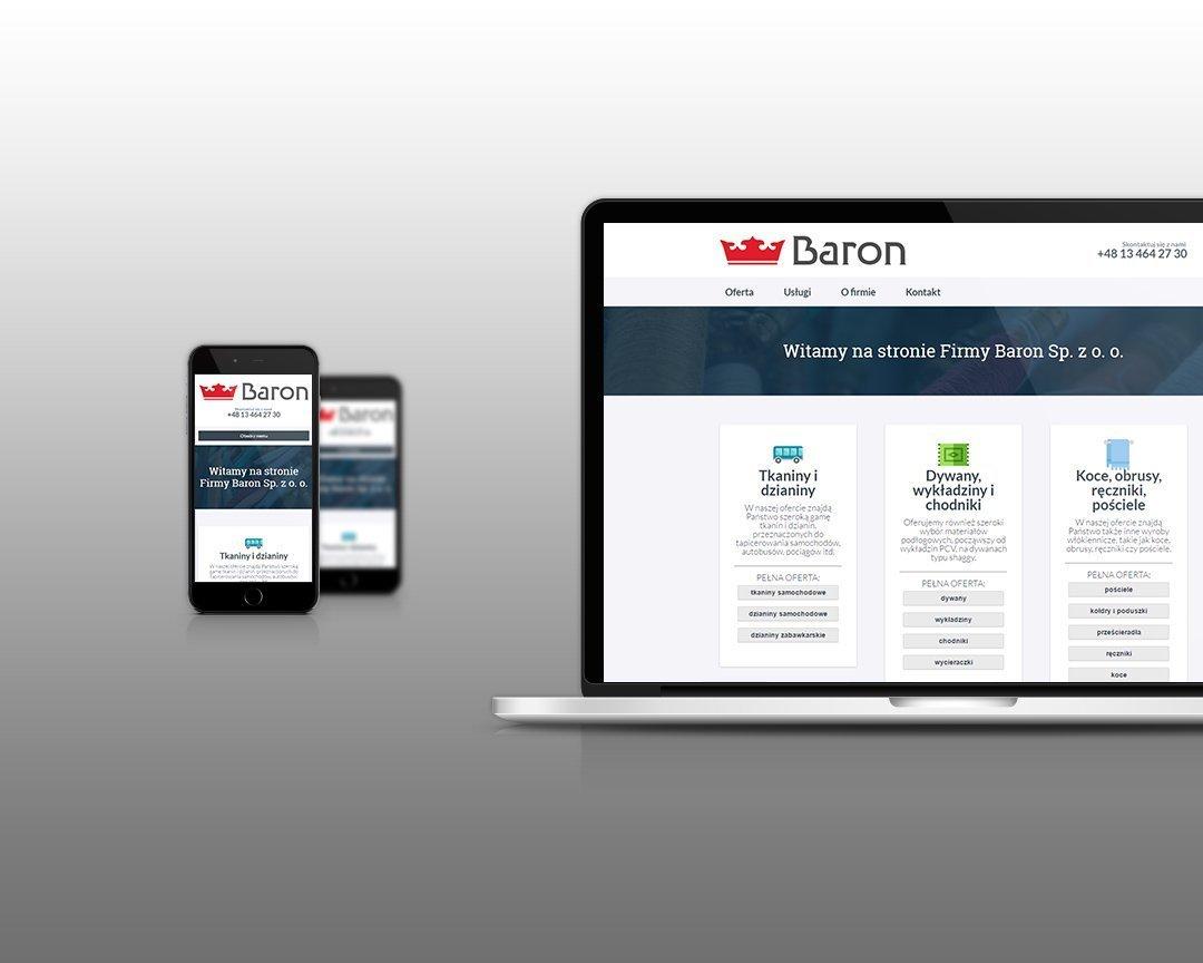 Responsywna strona internetowa Spółki Baron (by BBIG.PL)