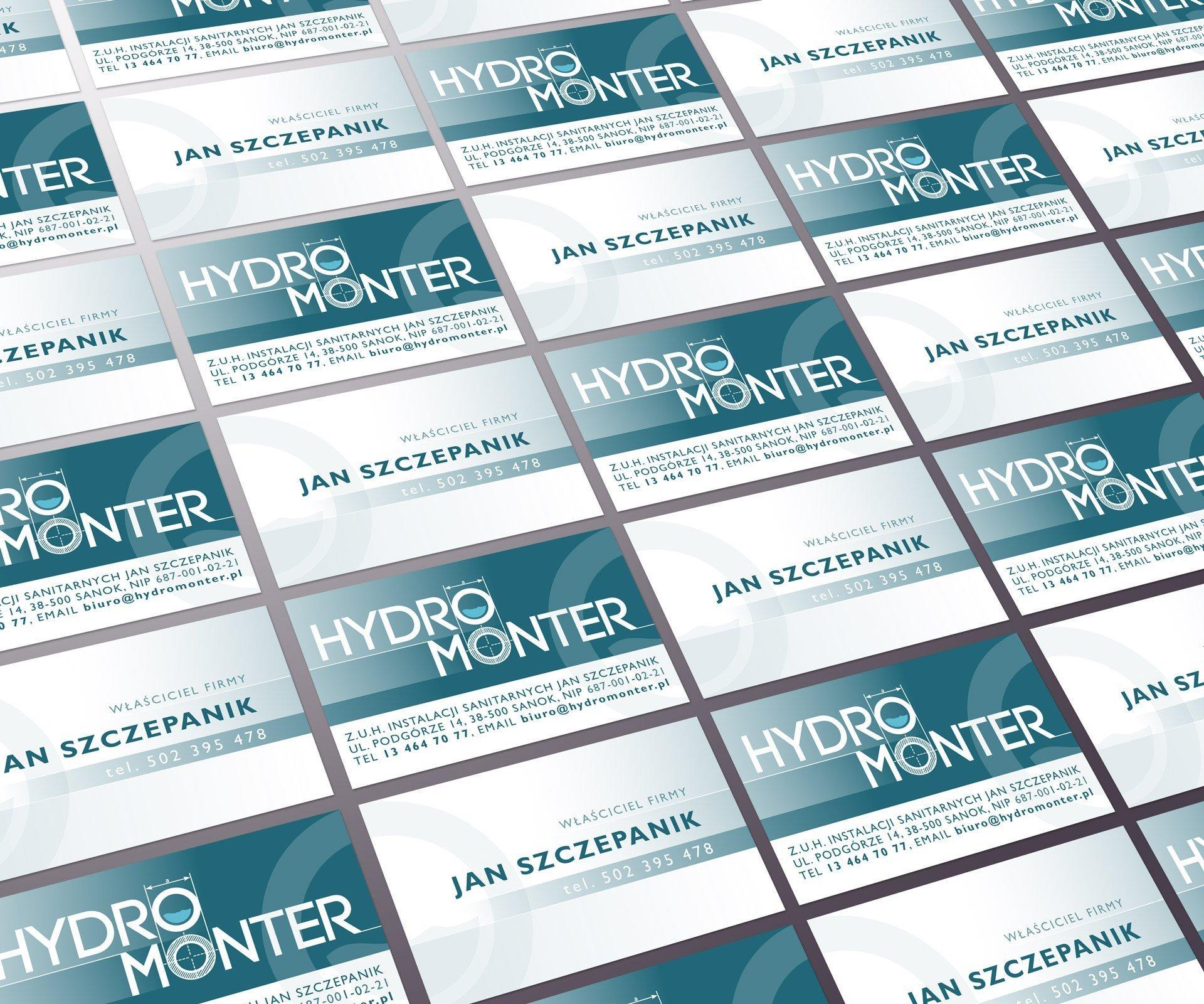 Wizytówki firmy HydroMonter (by BBIG.PL)