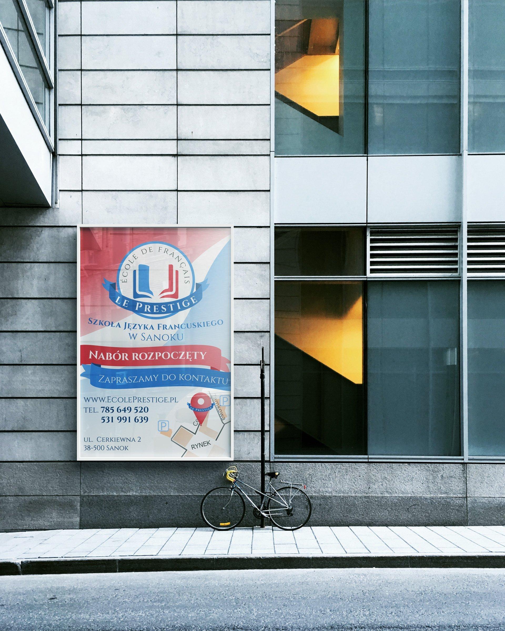 Wizualizacja prezentacji plakatu Szkoły Le Prestige (by BBIG.PL)