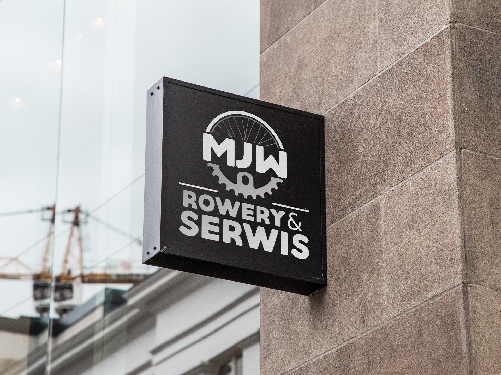 Wizualizacja kasetonu z logo firmy MJW Rowery&Serwis (by BBIG.PL)