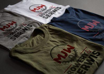 Wizualizacja koszulek z logo firmy MJW Rowery&Serwis (by BBIG.PL)