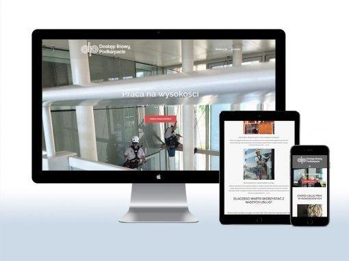 Strona internetowa firmy Dostęp Linowy PODKARPACIE